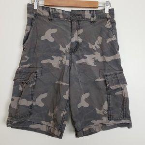 Faded Glory Camo Cargo Shorts 30